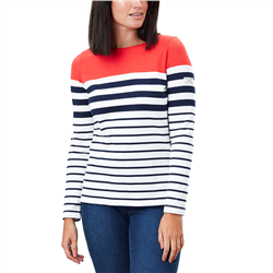 Joules Harbour T-Shirt  - Cream, Navy, & Red Stripe