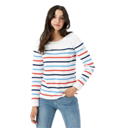 Joules Harbour T-Shirt - Cream, Navy, Red & Blue Stripe