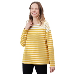 Joules Marina T-Shirt - Cream & Gold Stripe