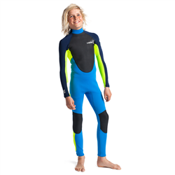 C-Skins Element 3/2mm Back Zip Wetsuit (2021) - Cyan, Yellow & Navy