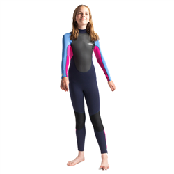 C-Skins Element 3/2mm Back Zip Wetsuit (2021) - Slate, Magenta & Powder Blue