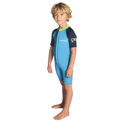 C-Skins C-Kid Baby Shorty Wetsuit (2021) - Cyan, Navy & Lime