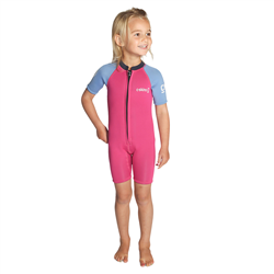C-Skins C-Kid Baby Shorty Wetsuit (2021) - Magenta, Powder Blue & Slate