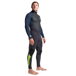 C-Skins Element 3/2mm Back Zip Wetsuit (2021) - Anthracite, Bluestone & Lime