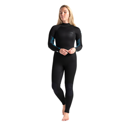 C-Skins Surflite 4/3mm Back Zip Wetsuit (2021) - Black, Caribbean Blue & Blue Shade