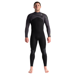 C-Skins ReWired 4/3mm Chest Zip Wetsuit (2021) - Black, Meteor X & Lime