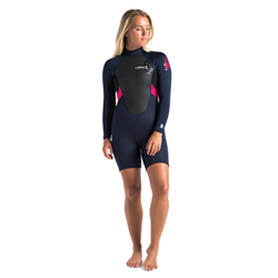 C-Skins Element  Back Zip Spring Wetsuit (2021) - Slate, Black & Coral