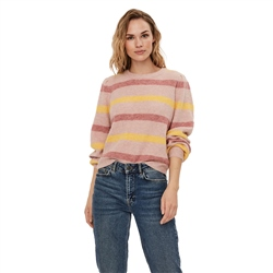 Vero Moda Plaza Jumper - Old Rose & Cornsilk Stripes
