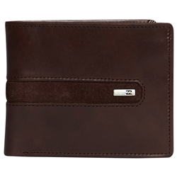 Billabong Dbah Leather Wallet - Chocolate