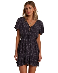 Billabong Day Trippin Dress - Off Black