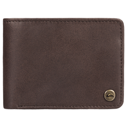 Quiksilver Mack 2 Large Leather Wallet - Chocolate Brown