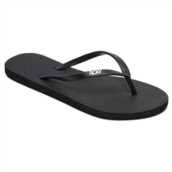 Roxy Viva IV Flip Flops - Black Smooth
