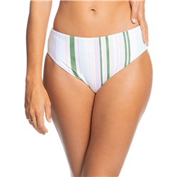 Roxy Sea & Waves Revo Full Bikini Bottoms - Bright White Kamuela Stripe