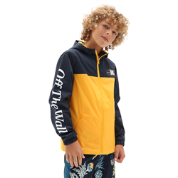 Vans Frequency Windbreaker Jacket - Dress Blues & Saffron