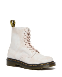 Dr Martens 1460 Pascal Tie Dye Printed Suede Boots - Shell Pink & White