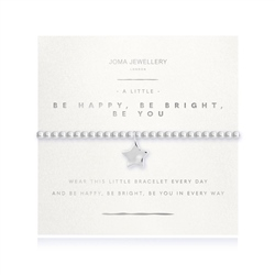 Joma Jewellery Be Happy Be Bright Be You Bracelet - Silver