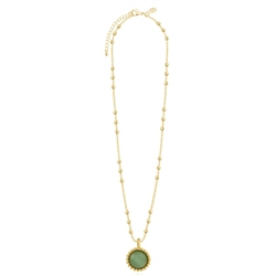 Joma Jewellery Capri Aventurine Necklace - Gold