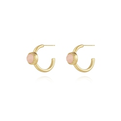Joma Jewellery Capri Earrings - Rose Quartz
