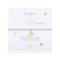 Joma Jewellery Little Pizza My Heart Bracelet - Gold