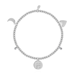 Joma Jewellery Love You To The Moon & Back Bracelet - Silver