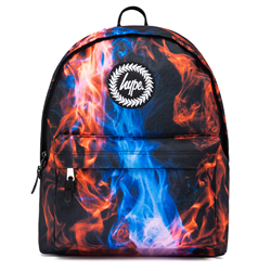 Hype Cyan Fire Backpack - Red & Blue
