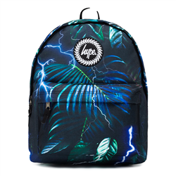 Hype Electric Palm Backpack - Green & Black