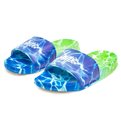 Hype Pool Fade Sliders - Blue & Green
