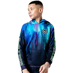 Hype Neon Drips Hoody - Black