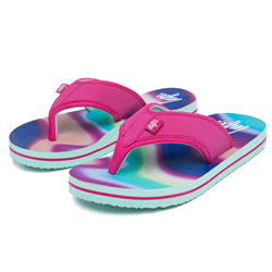 Hype Rainbow Wave Flip Flops - Multi
