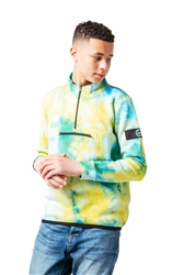 Hype Ocean Dye Fleece - Green & Blue