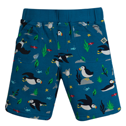 Frugi National Trust Reversible Shorts - Puffin