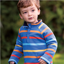 Frugi Snuggle Fleece - Cobalt Multistripe