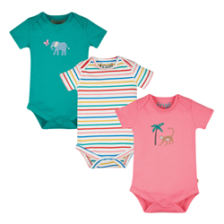 Frugi Super Special Body Babygrow (3 Pack) - Animal