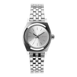 Nixon Small Time Teller Watch - All Silver