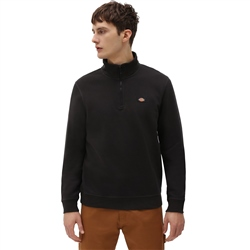Dickies Oakport Quarter Zip Sweatshirt - Black