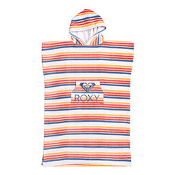 Roxy Stay Magical Girls Surf Poncho - Bright White & Confi Stripe