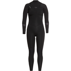 Roxy Syncro 3/2mm Chest Zip Wetsuit (2021) - Black & Jet Black