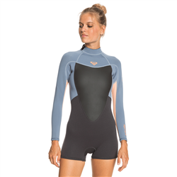 Roxy Prologue 2mm Spring Wetsuit (2021) - Cloud Black, Powder Grey & Sunglow