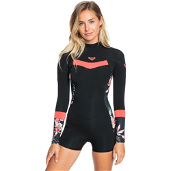 Roxy Syncro 2mm Spring Wetsuit (2021) - Black & Bright Coral