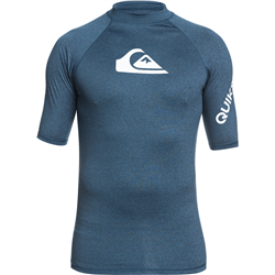 Quiksilver All Time Rash Vest - Majolica Blue Heather