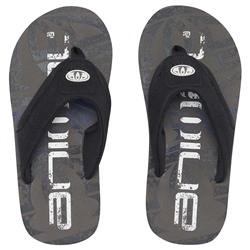 Animal Jekyl Logo Flip Flops - Cast Iron Grey