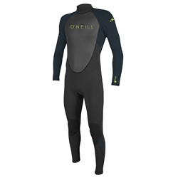 O'Neill Youth Reactor II 3mm Back Zip Wetsuit (2021) - Black & Slate