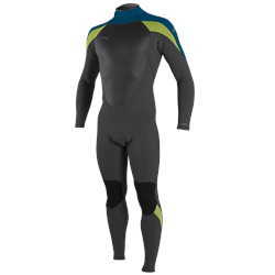 O'Neill Epic 3/2mm Back Zip Wetsuit (2021) - Black, Ultra Blue & Day Glo