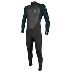 O'Neill Reactor II 3/2mm Back Zip Wetsuit (2021) - Black & Abyss