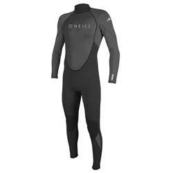 O'Neill Reactor II 3/2mm Back Zip Wetsuit (2021) - Black & Graphite