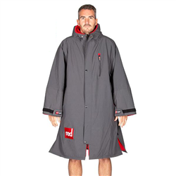 Red Paddle Long Sleeve Pro Changing Robe - Grey