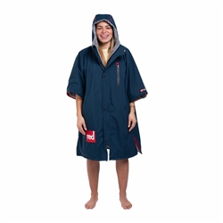Red Paddle Short Sleeve Pro Changing Robe - Navy