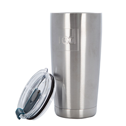 Red Paddle Insulated Travel Cup - Silver