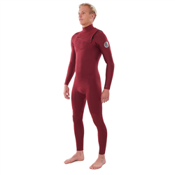 Rip Curl Dawn Patrol Performance Chest Zip 3/2mm Wetsuit (2021) - Maroon