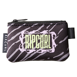 Rip Curl Neo Zip Coin Wallet - Black & Grey